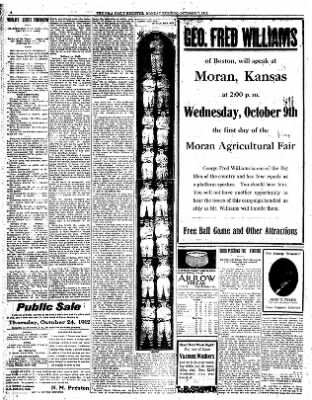 Iola Daily Register And Evening News from Iola, Kansas on October 7, 1912 · Page 6