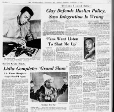 Cassius Clay's opinions about Nation of Islam and racial integration in 1964