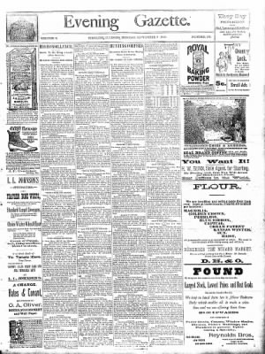 Sterling Daily Gazette from Sterling, Illinois on September 9, 1889 · Page 1