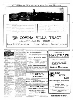 Covina Argus from Covina, California on January 18, 1908 · Page 2