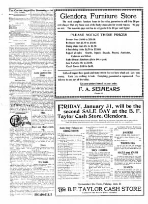 Covina Argus from Covina, California on January 25, 1908 · Page 4