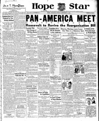 Hope Star from Hope, Arkansas on December 9, 1938 · Page 1