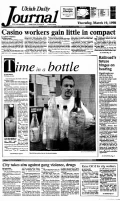 Ukiah Daily Journal from Ukiah, California on March 19, 1998 · Page 1