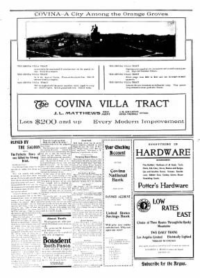 Covina Argus from Covina, California on February 8, 1908 · Page 2