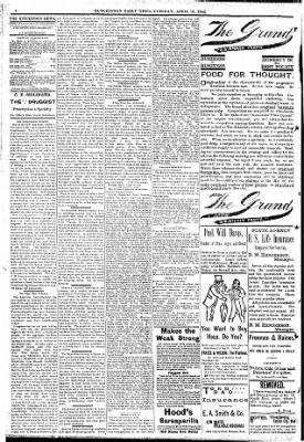 The Hutchinson News from Hutchinson, Kansas on April 12, 1892 · Page 4