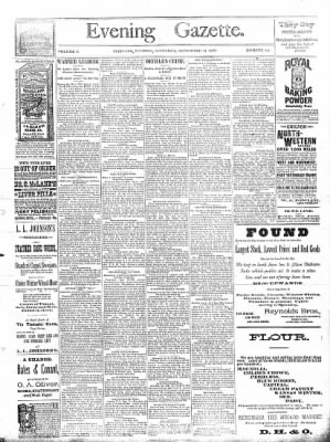 Sterling Daily Gazette from Sterling, Illinois on September 14, 1889 · Page 1