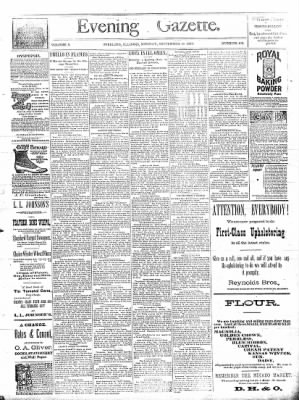 Sterling Daily Gazette from Sterling, Illinois on September 16, 1889 · Page 1