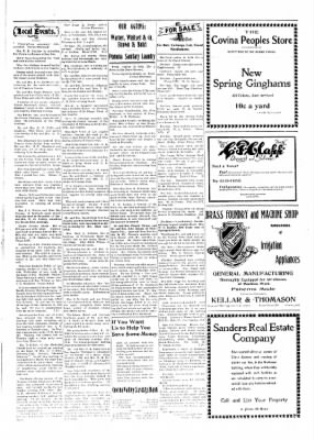 Covina Argus from Covina, California on February 22, 1908 · Page 3