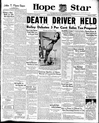 Hope Star from Hope, Arkansas on December 20, 1938 · Page 1