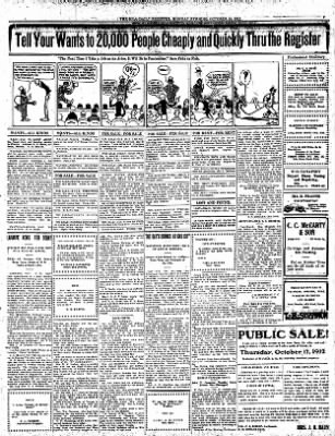 Iola Daily Register And Evening News from Iola, Kansas on October 14, 1912 · Page 7
