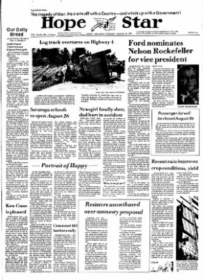 Hope Star from Hope, Arkansas on August 20, 1974 · Page 1