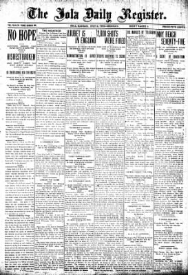 Iola Daily Register And Evening News from Iola, Kansas on July 6, 1903 · Page 1