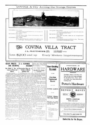 Covina Argus from Covina, California on April 11, 1908 · Page 2