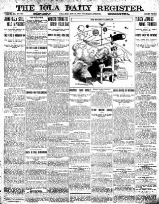 Iola Daily Register And Evening News from Iola, Kansas on October 17, 1912 · Page 1