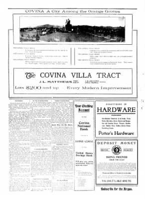 Covina Argus from Covina, California on April 18, 1908 · Page 2