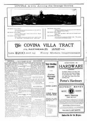 Covina Argus from Covina, California on May 16, 1908 · Page 2