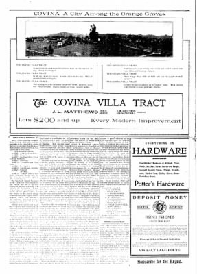 Covina Argus from Covina, California on May 23, 1908 · Page 2