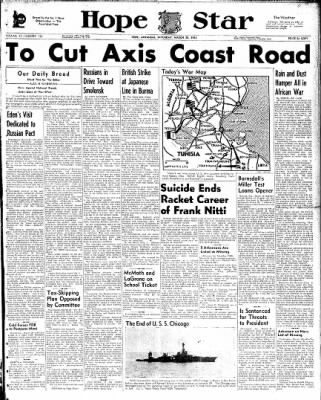 Hope Star from Hope, Arkansas on March 20, 1943 · Page 1