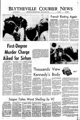 The Courier News from Blytheville, Arkansas on June 7, 1968 · Page 1