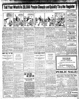 Iola Daily Register And Evening News from Iola, Kansas on October 22, 1912 · Page 7