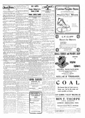 Covina Argus from Covina, California on June 6, 1908 · Page 5