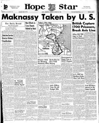 Hope Star from Hope, Arkansas on March 23, 1943 · Page 1
