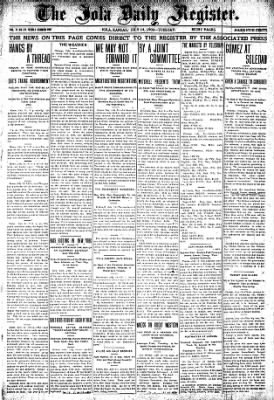 Iola Daily Register And Evening News from Iola, Kansas on July 14, 1903 · Page 1