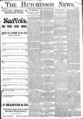 The Hutchinson News from Hutchinson, Kansas on May 2, 1892 · Page 1