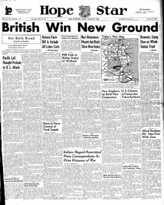 Hope Star from Hope, Arkansas on March 26, 1943 · Page 1