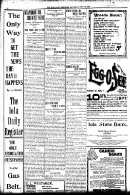 Iola Daily Register And Evening News from Iola, Kansas on July 18, 1903 · Page 4