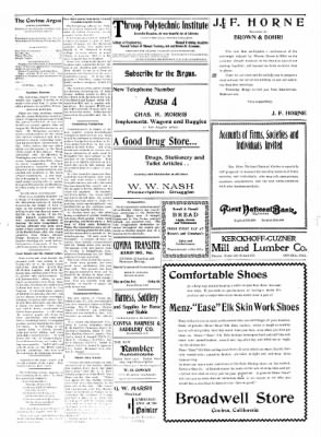 Covina Argus from Covina, California on July 25, 1908 · Page 4