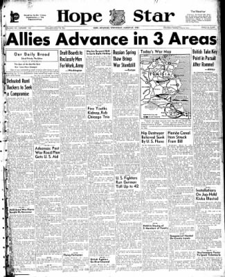 Hope Star from Hope, Arkansas on March 31, 1943 · Page 1