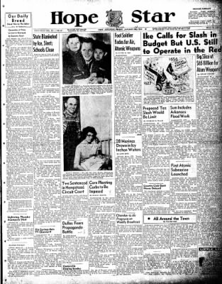Hope Star from Hope, Arkansas on January 21, 1954 · Page 1