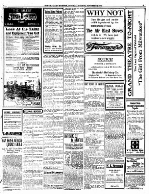 Iola Daily Register And Evening News from Iola, Kansas on November 2, 1912 · Page 3