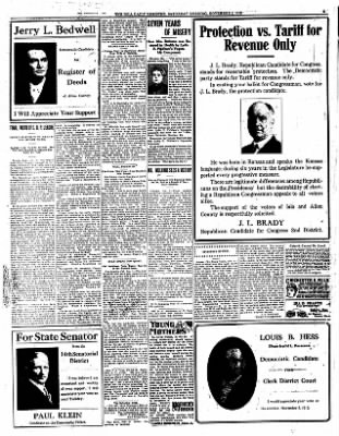 Iola Daily Register And Evening News from Iola, Kansas on November 2, 1912 · Page 5