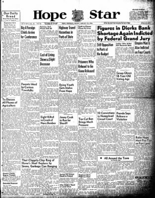 Hope Star from Hope, Arkansas on January 22, 1954 · Page 1