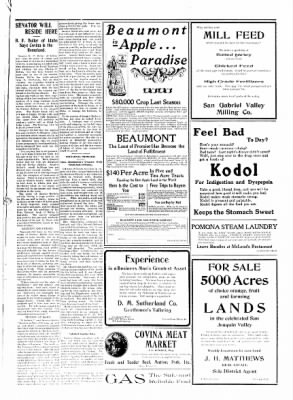 Covina Argus from Covina, California on September 19, 1908 · Page 7