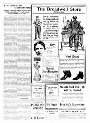 Covina Argus from Covina, California on September 19, 1908 · Page 8