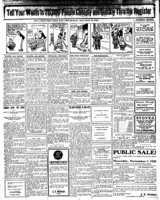 Iola Daily Register And Evening News from Iola, Kansas on November 4, 1912 · Page 7