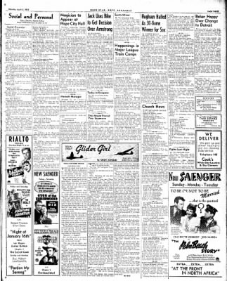 Hope Star from Hope, Arkansas on April 3, 1943 · Page 3