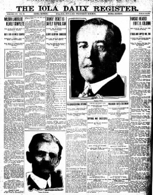 Iola Daily Register And Evening News from Iola, Kansas on November 6, 1912 · Page 9