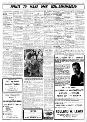 Mt. Vernon Register-News from Mt Vernon, Illinois on December 31, 1968 · Page 11