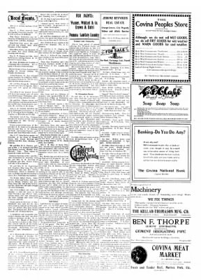 Covina Argus from Covina, California on November 7, 1908 · Page 5