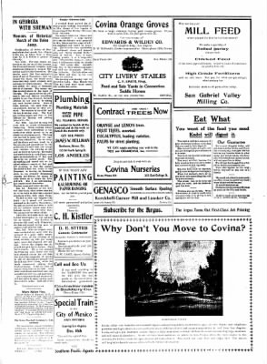 Covina Argus from Covina, California on November 14, 1908 · Page 7