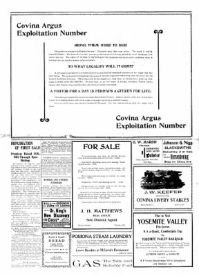 Covina Argus from Covina, California on November 28, 1908 · Page 2