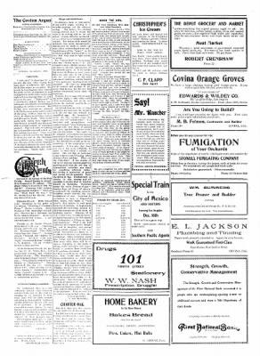 Covina Argus from Covina, California on December 5, 1908 · Page 6