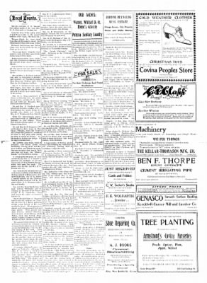 Covina Argus from Covina, California on December 19, 1908 · Page 5