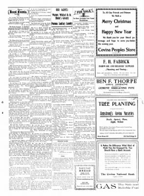 Covina Argus from Covina, California on December 26, 1908 · Page 7