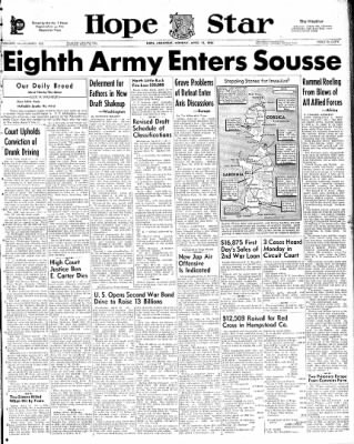 Hope Star from Hope, Arkansas on April 12, 1943 · Page 1
