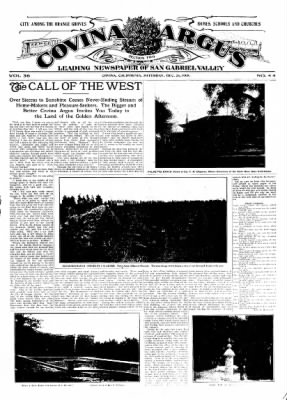 Covina Argus from Covina, California on December 26, 1908 · Page 21